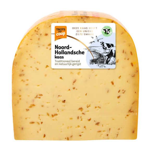Trots van Coop Noord-Hollandsche jong belegen komijn 48+ kaas stuk product photo