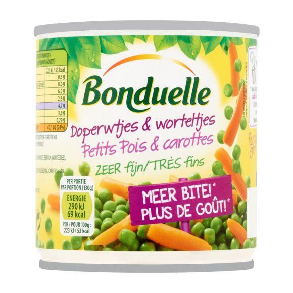 Bonduelle Doperwtjes & worteltjes zeer fijn product photo