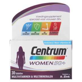 Centrum Women 50+ multivitaminen tabletten, 30 stuks product photo