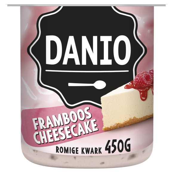 Danio Romige kwark framboos cheesecake product photo
