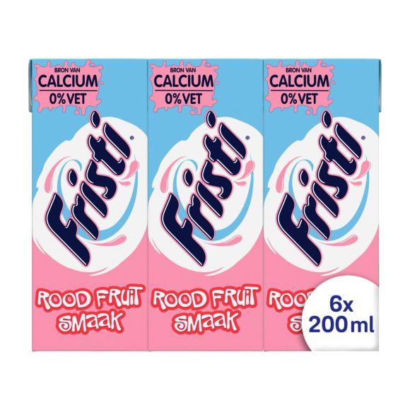 Fristi Drinkyoghurt Rood Fruit Smaak 0% Vet 6 x 200 ml Multi-pack product photo