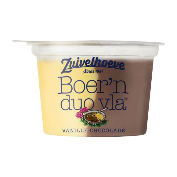 Boer'n DUO vla® vanille/ chocola 200 gram product photo