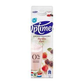 Optimel Drinkyoghurt Aardbei Kers 0% Vet 1000 ml Pak met punt product photo