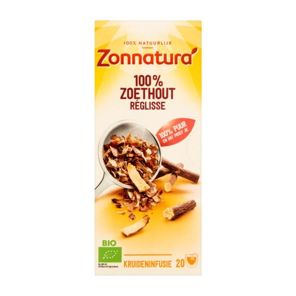 Zonnatura Zoethout thee 20 stuks product photo