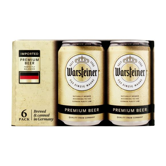 Warsteiner Bier blik 6 x 33 cl product photo