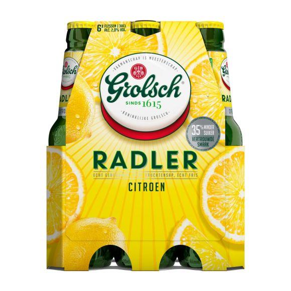 Grolsch Radler citroen bier fles 6 x 30 cl product photo