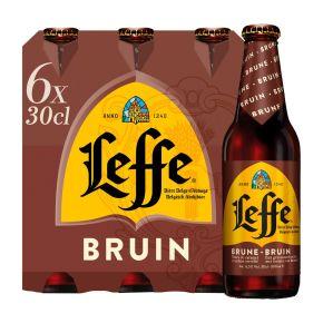Leffe Bruin bier fles 6 x 30 cl product photo
