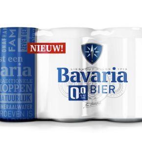 Bavaria 0.0% bier blik 6 x 33 cl product photo