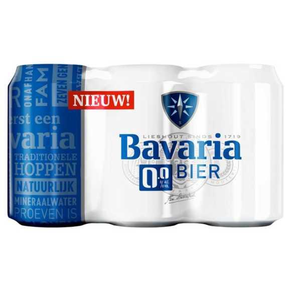 Bavaria 0.0% alcoholvrij bier blik product photo