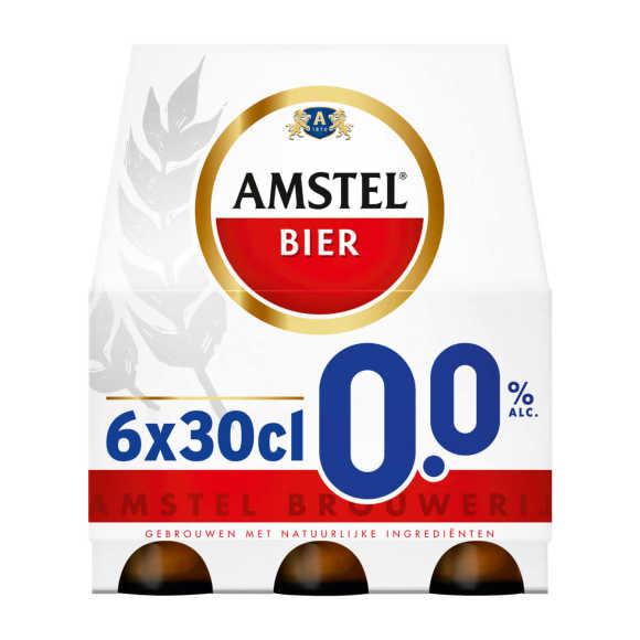 Amstel 0.0% bier fles 6 x 30 cl product photo
