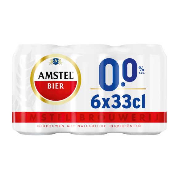 Amstel Pilsener bier 0.0% blik 6x33cl product photo
