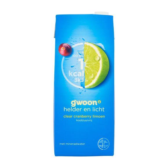g'woon Clear cranberry limoen koolzuurvrij product photo