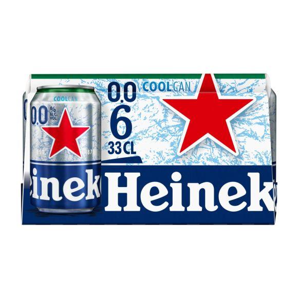 Heineken 0.0 alcoholvrij bier blik coolcan 6x33cl product photo