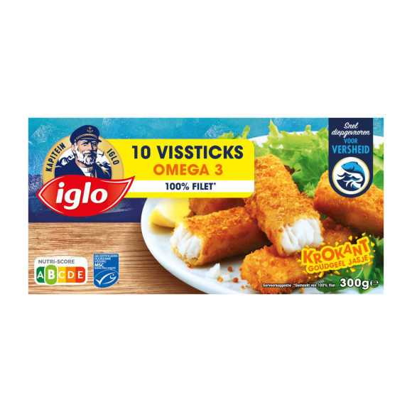 Iglo Vissticks Omega - 10 stuks product photo