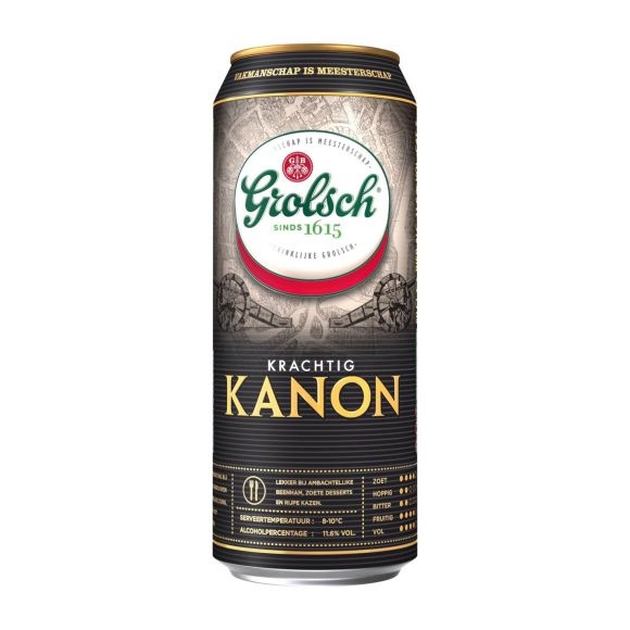 Grolsch Kanon bier blik product photo