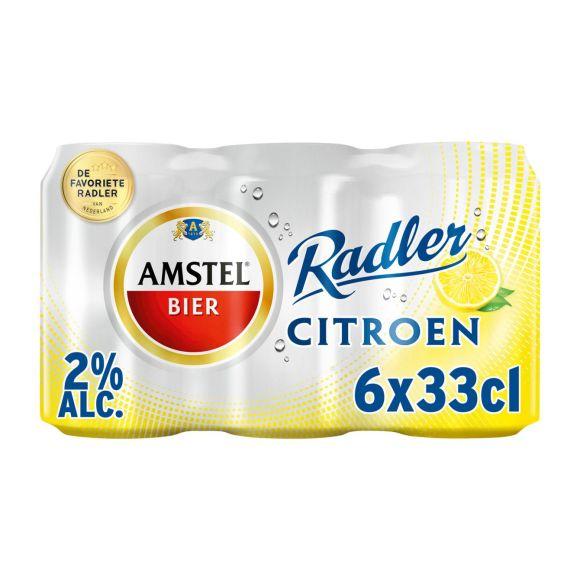 Amstel Radler citroen bier blik 6 x 33 cl product photo