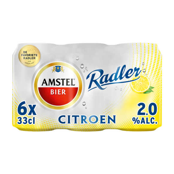 Amstel Radler bier citroen blik 6x33cl product photo