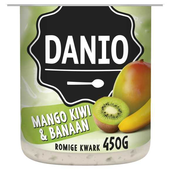 Danio Romige kwark mango kiwi banaan product photo