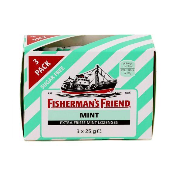 Fisherman's Friend mint extra frisse mint lozenges suikervrij 3-pack product photo