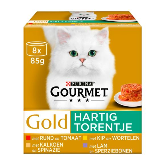 Purina Gourmet Gold Hartig Torentje 8-Pack o.a. met Rund en Tomaat 8 x 85 g product photo