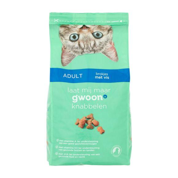 g'woon Kattenvoer brokjes met vis product photo