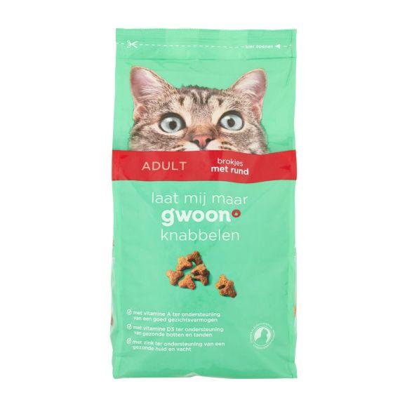 g'woon Kattenvoer brokjes met rund product photo