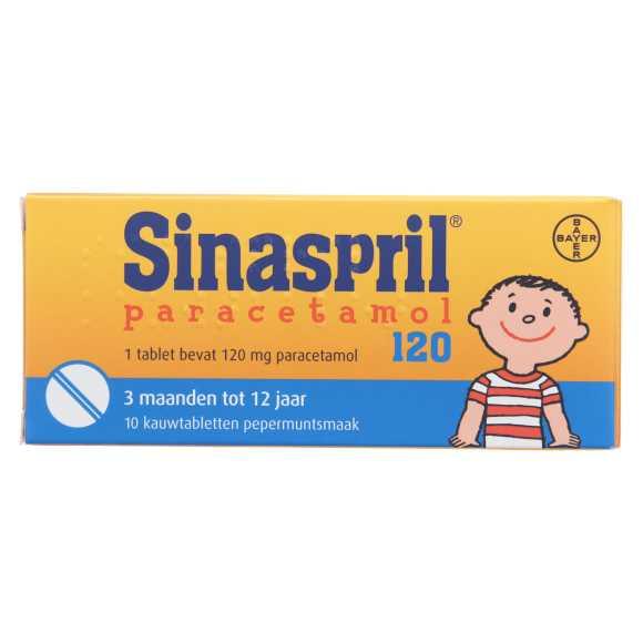 Sinaspril paracetamol 120mg 10st product photo