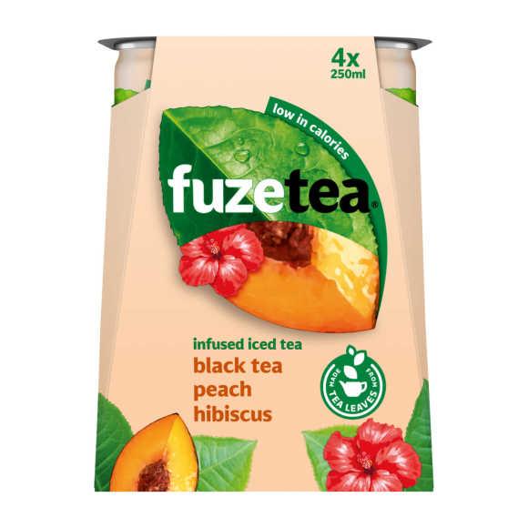 Fuze Black tea peach hibiscus product photo