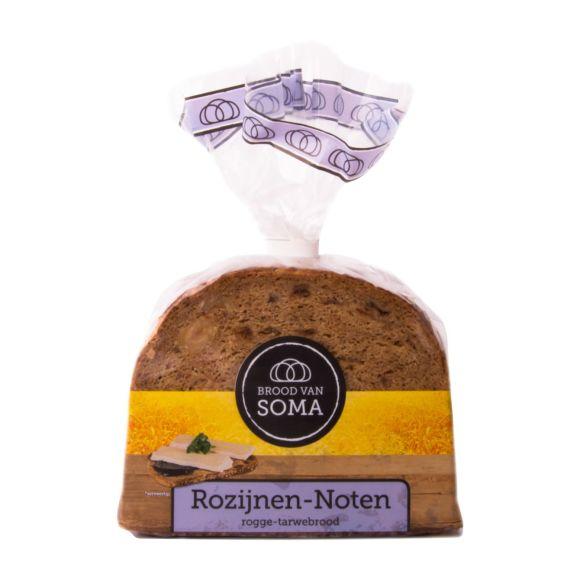 Soma Rozijnen noten rogge tarwebrood product photo