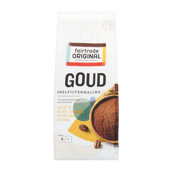 Fair Trade Original snelfilter koffie goud product photo