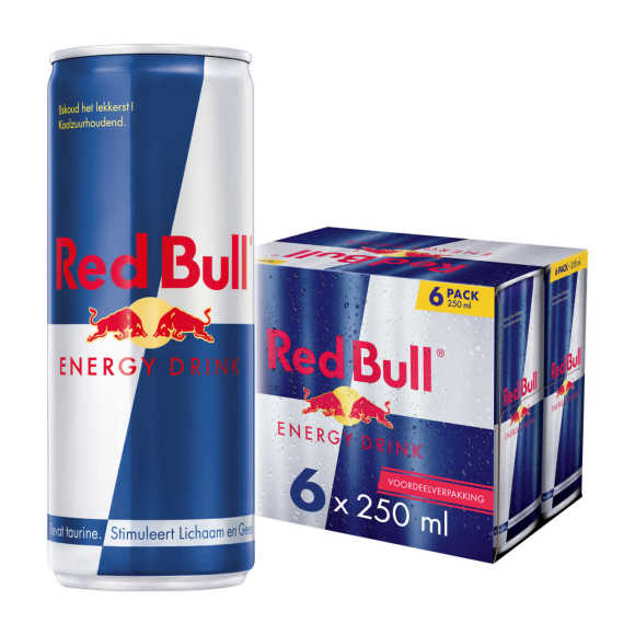 Red Bull Energy drink blik 6 x 25 cl product photo