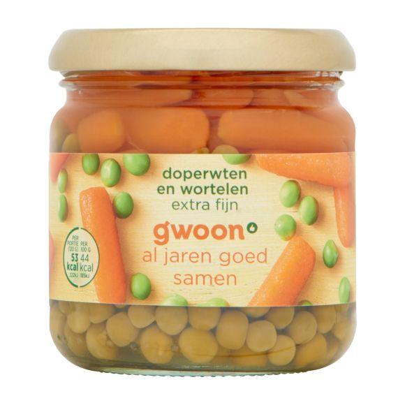 g'woon Doperwten en wortelen product photo