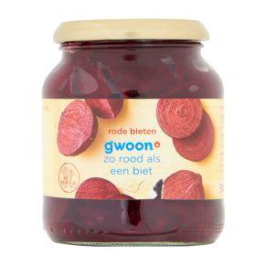 g'woon Rode bieten gesneden product photo
