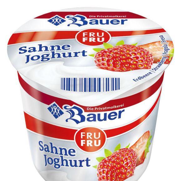 Bauer Roomyoghurt aardbei product photo