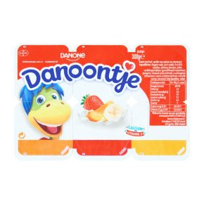 Danone Danoontje abrikoos aardbei banaan product photo