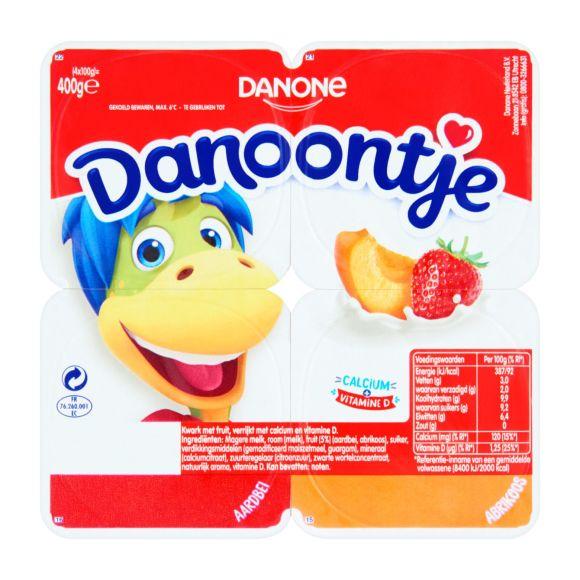 Danone Danoontje aardbei abrikoos product photo