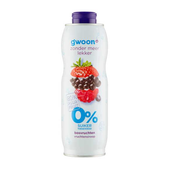 g'woon Siroop bosvruchten 0% product photo