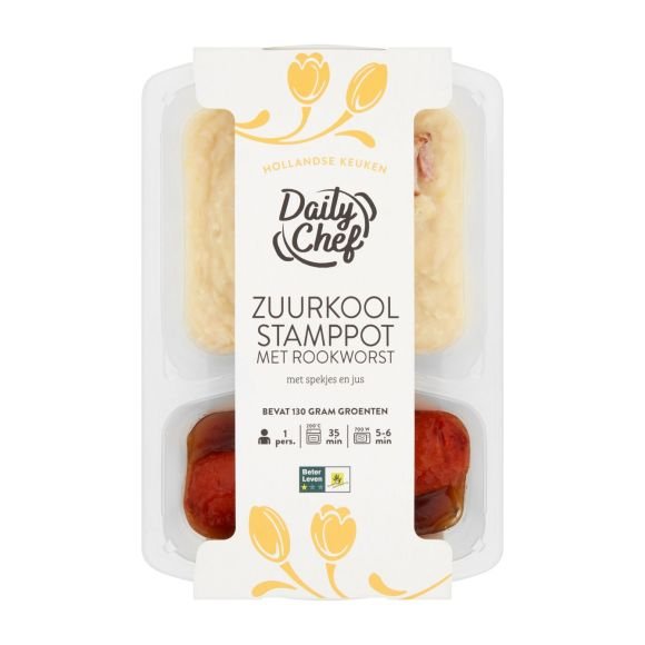 Daily Chef Zuurkool met rookworst product photo