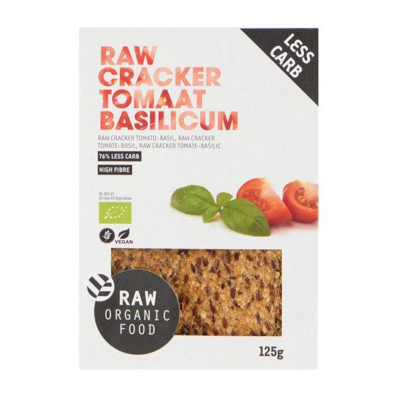 RAW Crackers lijnzaad tomaat & basilicum biologisch product photo