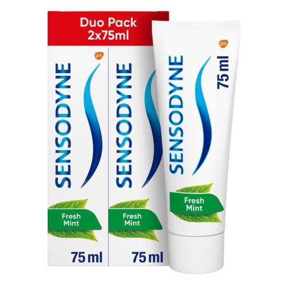 Sensodyne Freshmint tandpasta voor gevoelige tanden 2 stuks product photo