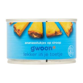 g'woon Ananasstukjes op siroop product photo