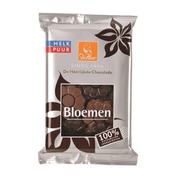 De Heer chocolade bloemen melk puur product photo