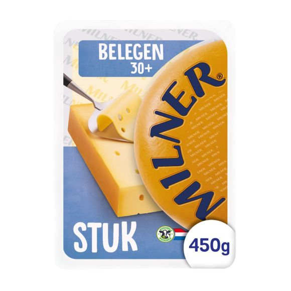 Milner Belegen 30+ kaas stuk product photo