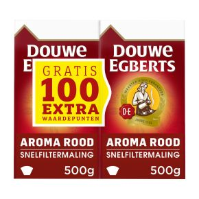 Douwe Egberts Aroma rood dubbelpak filterkoffie product photo