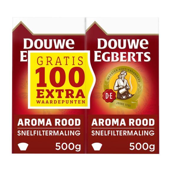 Douwe Egberts Aroma rood dubbelpak filterkoffie product photo