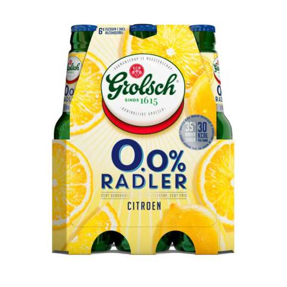 Grolsch 0.0% Radler citroen fles 6 x 30 cl product photo