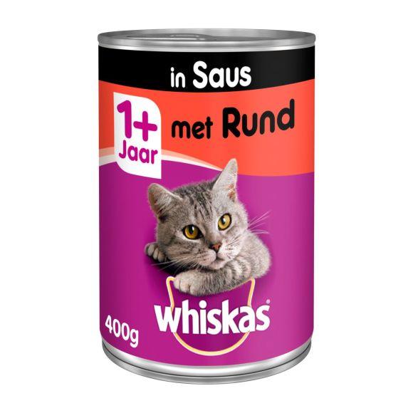 Whiskas Met rundvlees in saus 1+ jaar product photo