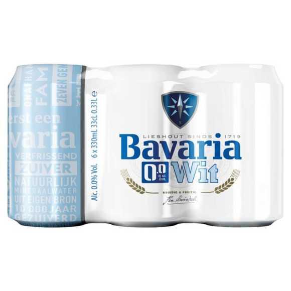Bavaria 0.0% Wit alcoholvrij speciaal bier blik product photo