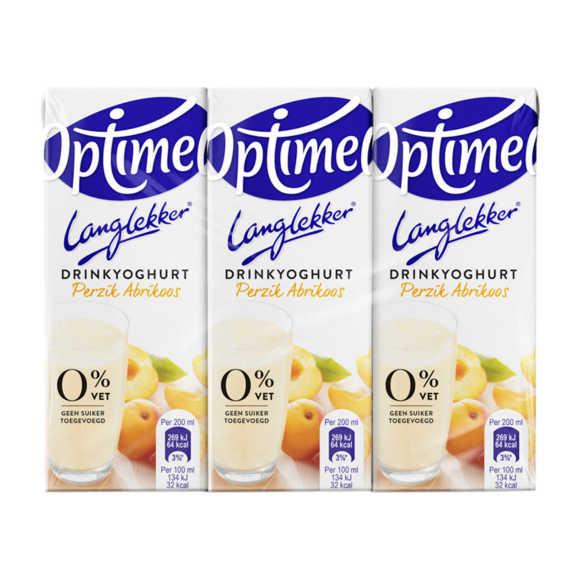 Optimel Langlekker Drinkyoghurt Perzik Abrikoos 6 x 200 ml Multi-pack product photo