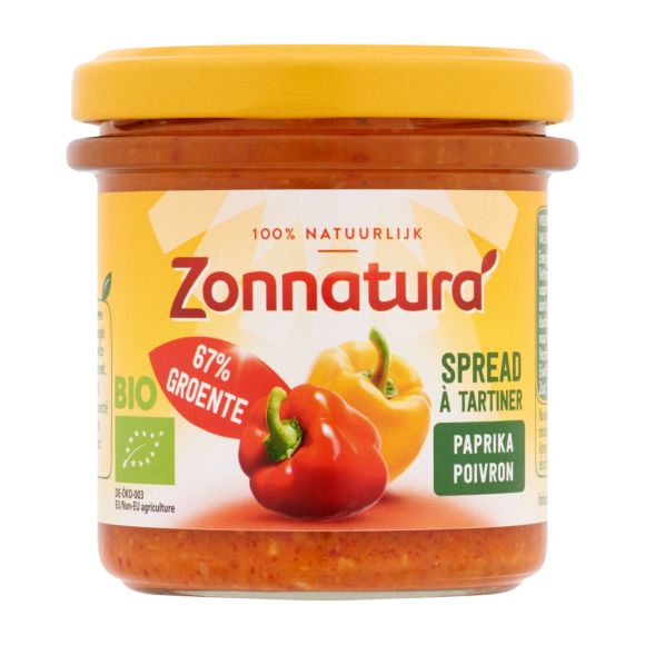 Zonnatura Groentespread paprika biologisch product photo